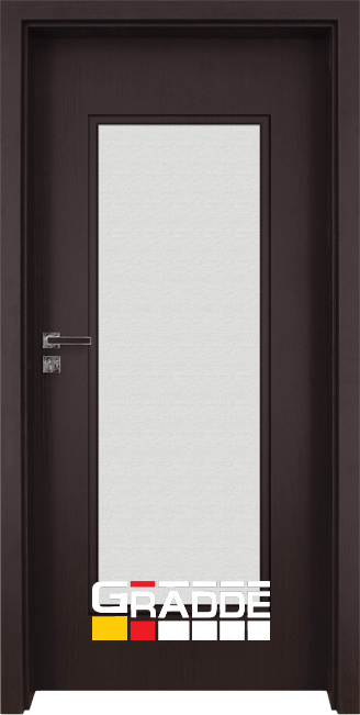 Интериорна врата Gradde Baden, модел 1, Орех Рибейра