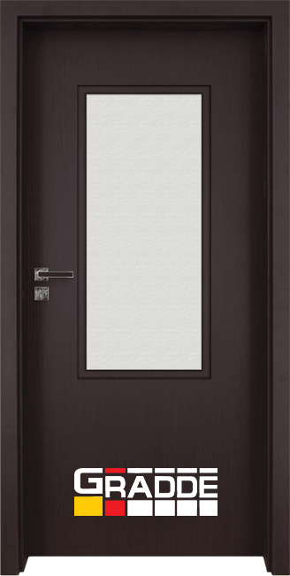 Интериорна врата Gradde Baden, модел 2, Орех Рибейра