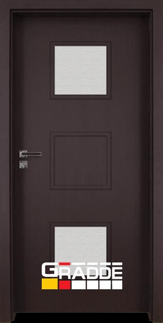 Интериорна врата Gradde Bergedorf, модел 2, Орех Рибейра