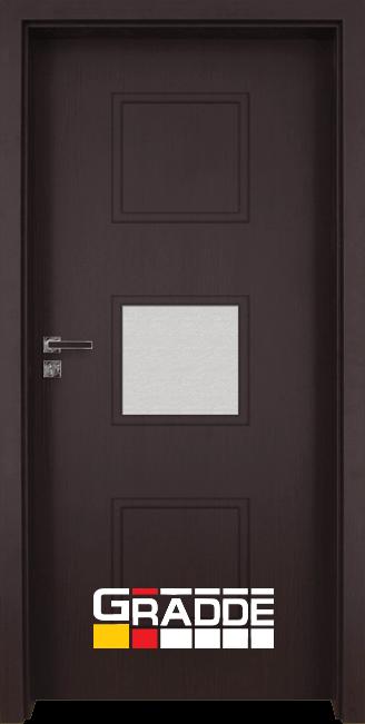 Интериорна врата Gradde Bergedorf, модел 3, Орех Рибейра