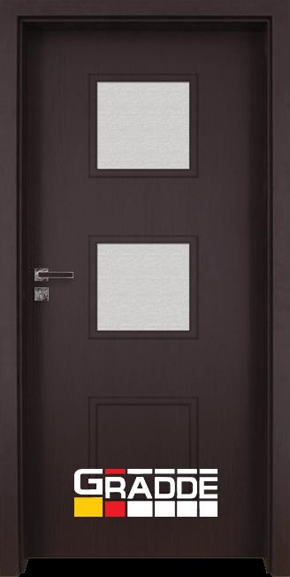 Интериорна врата Gradde Bergedorf, модел 4, Орех Рибейра