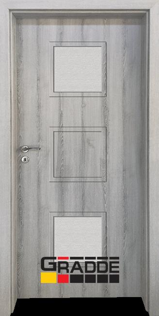 Интериорна врата Gradde Bergedorf, модел 2, Ясен Вералинга