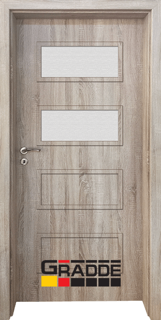 Интериорна врата Gradde Blomendal, модел 3, Дъб Вераде