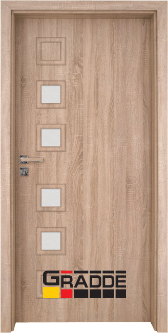 Интериорна врата Gradde Reichsburg, модел 4, Дъб Вераде