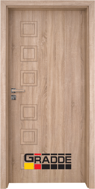 Интериорна врата Gradde Reichsburg, модел Full, Дъб Вераде
