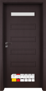 Интериорна врата Gradde Schwerin, модел 1, Орех Рибейра