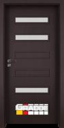Интериорна врата Gradde Schwerin, модел 2, Орех Рибейра