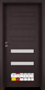 Интериорна врата Gradde Schwerin, модел 5, Орех Рибейра