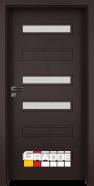Интериорна врата Gradde Schwerin, модел 6, Орех Рибейра
