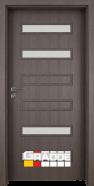 Интериорна врата Gradde Schwerin, модел 2, Череша Сан Диего