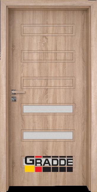 Интериорна врата Gradde Schwerin, модел 5, Дъб Вераде