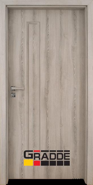 Интериорна врата Gradde Wartburg, модел Full, Ясен Вералинга
