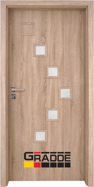 Интериорна врата Gradde Zwinger, модел 3, Дъб Вераде
