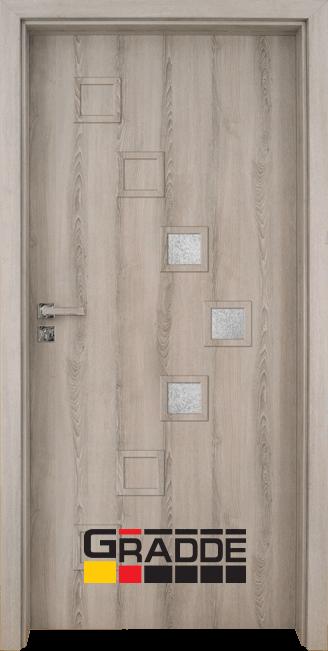 Интериорна врата Gradde Zwinger, модел 2, Ясен Вералинга