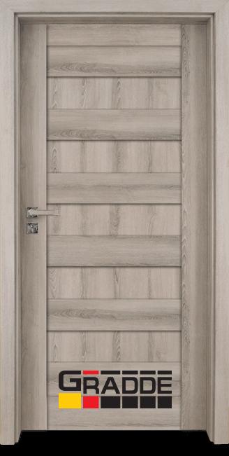 Интериорна врата Gradde Aaven Voll, цвят Орех Рибейра